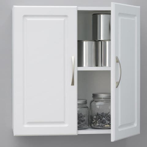 SystemBuild White Kendall 24-inch Wall Storage Cabinet