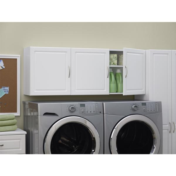 Systembuild White Kendall 54 Inch Wall Storage Cabinet