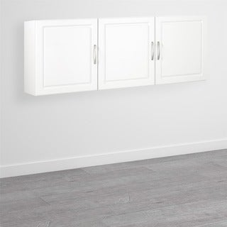 SystemBuild White Kendall 54-inch Wall Storage Cabinet