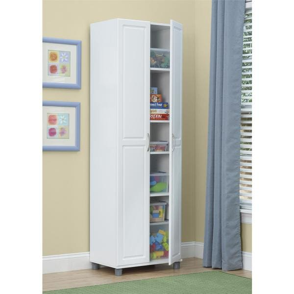 System Build White Kendall 24 Inch Storage Cabinet Free