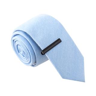 Skinny Tie Madness Men's Laugh Janice Laugh Blue Skinny Tie with Tie Clip