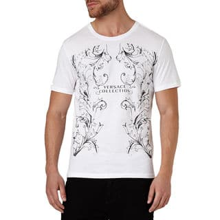 Versace Collection Men's White Crew Neck Logo Short Sleeve T-shirt|https://ak1.ostkcdn.com/images/products/10553785/P17632842.jpg?impolicy=medium