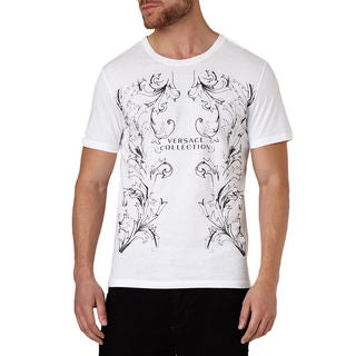 Versace Collection Men's White Crew Neck Logo Short Sleeve T-shirt