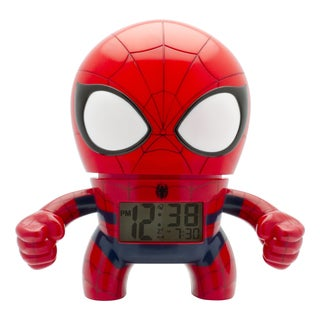 BulbBotz Marvel Kid's Light Up Spider-Man Clock