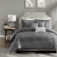 Madison Park Curtis 6 Piece Duvet Cover Set