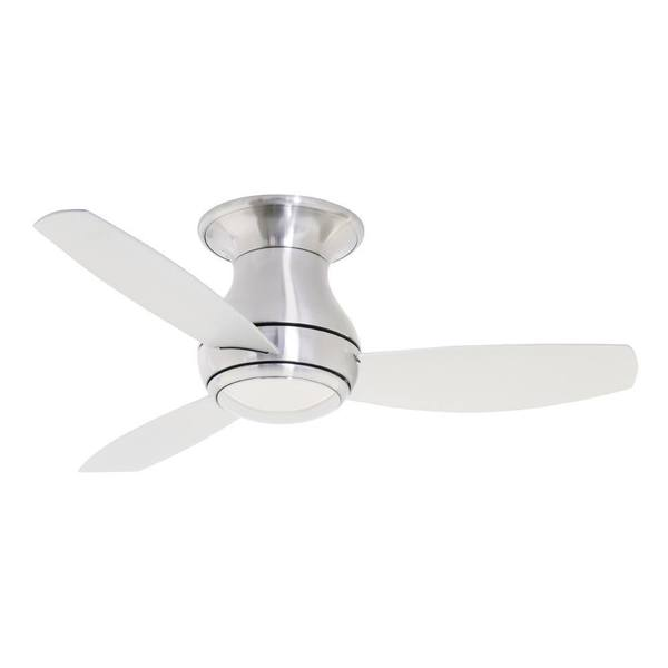 Emerson Curva Sky 44 Inch Brushed Steel Modern Indoor Outdoor Ceiling Fan Silver