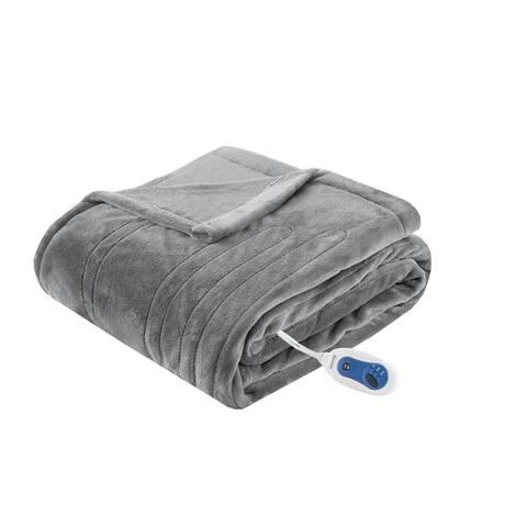 Beautyrest Heated Plush Oversized Throw