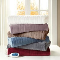 Beautyrest Heated Plush Oversized Throw - 60x70""