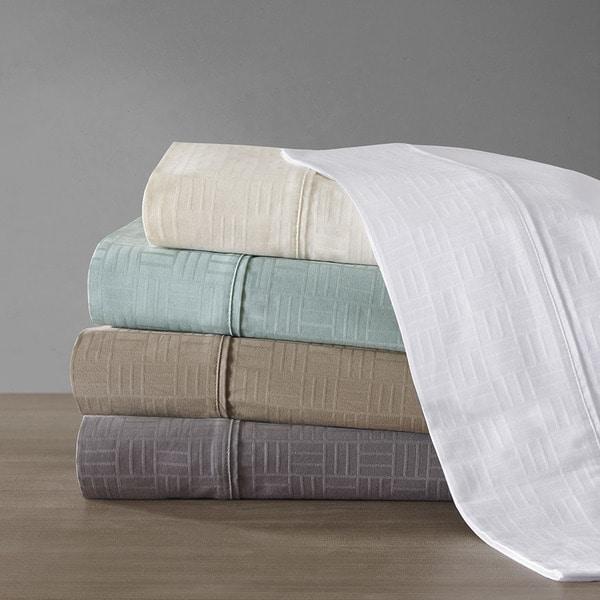 Metropolitan Home 400TC Cotton Jacquard Pillowcase Pair