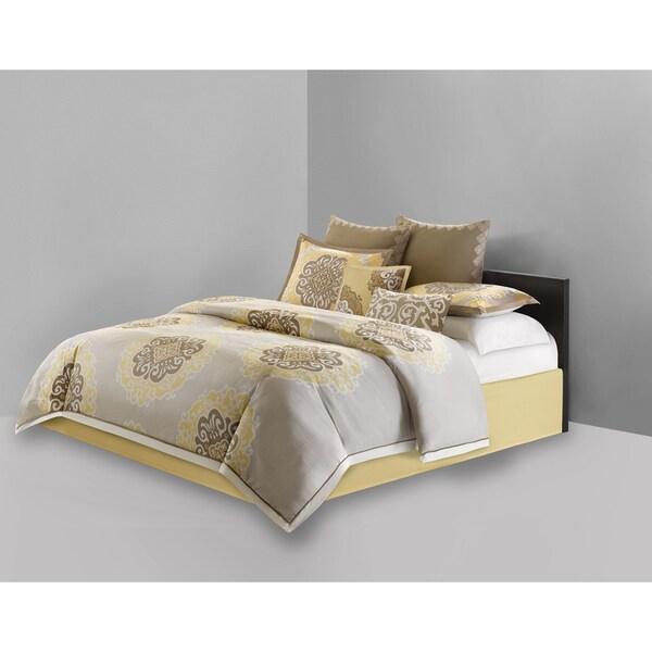 N Natori Medallion Multi Cotton 4-piece Comforter Set