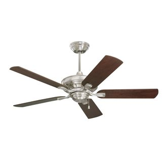 Emerson Bella 52-inch Brushed Steel Transitional Ceiling Fan with Reversible Blades