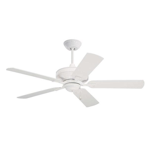Emerson Bella 52-inch Satin White Transitional Ceiling Fan with Reversible Blades