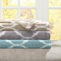 Madison Park Ogee Print Microlight Blanket