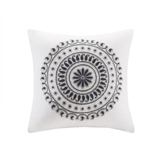 Link to The Curated Nomad Toro Embroidered Cotton Square Throw Pillow Similar Items in Decorative Accessories