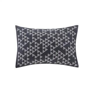 Carson Carrington Kedainiai Embroidered Cotton Oblong Pillow