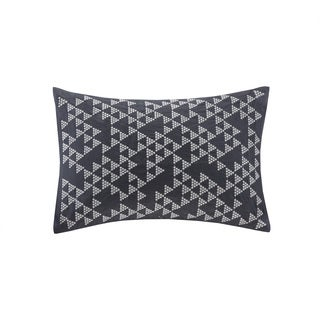 Ink+Ivy Thea Embroidered Cotton Oblong Pillow