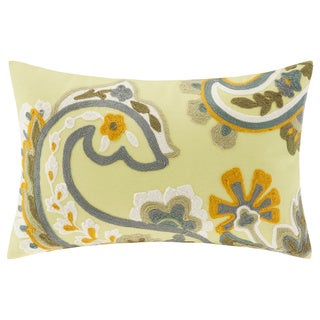 Harbor House Yellow Suzanna Cotton Oblong Pillow