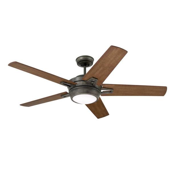 Emerson Southtowne 54 Inch Vintage Steel Modern Ceiling Fan With Reversible Blades Brown