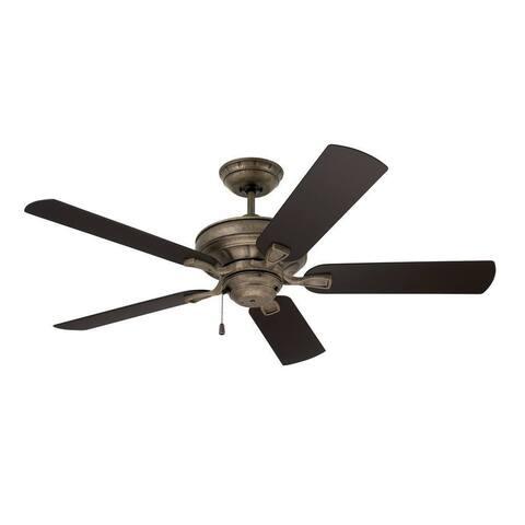 Emerson Veranda 52-inch Vintage Steel Traditional Indoor/Outdoor Ceiling Fan - Silver