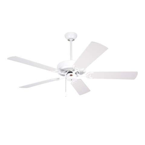 Emerson Builder 52-inch Appliance White Traditional Ceiling Fan with Reversible Blades