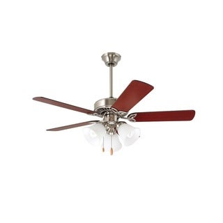 Emerson Pro-Series II Brushed Steel 42-inch Traditional Ceiling Fan with Reversible Blades