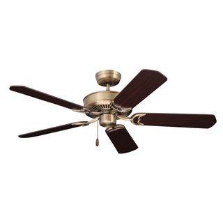 Emerson Designer 52-inch Antique Brass Traditional Energy Star Ceiling Fan with Reversible Blades