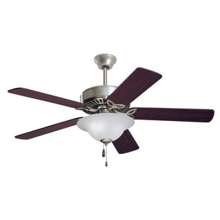 Emerson Pro Series ES 50-inch Brushed Steel Traditional Ceiling Fan with Reversible Blades