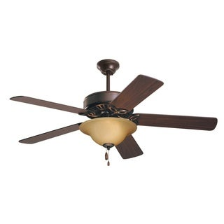 Emerson Pro Series ES 50-inch Oil Rubbed Bronze Traditional Ceiling Fan with Reversible Blades