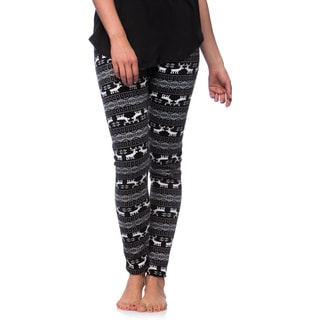 Women's Fleece Lined White Tail Deer Print Leggings