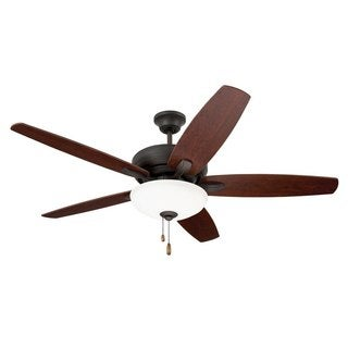 Emerson Ashland 52-inch Oil Rubbed Bronze Traditional Transitional Ceiling Fan with Reversible Blades