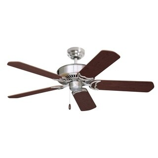 Emerson Designer 52-inch Brushed Steel Traditional Energy Star Ceiling Fan with Reversible Blades