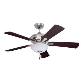 Emerson Monterey Lumina 52-inch Brushed Steel Modern Transitional Ceiling Fan with Reversible Blades
