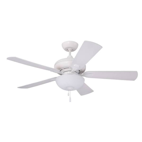 Emerson Monterey Lumina 52-inch Satin White Modern Transitional Ceiling Fan with Reversible Blades