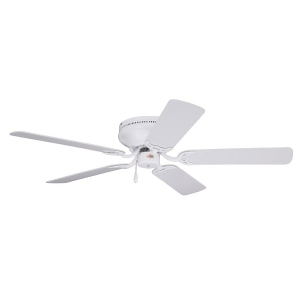 Emerson Snugger 52-inch Appliance White Traditional Low Profile Ceiling Fan with Reversible Blades