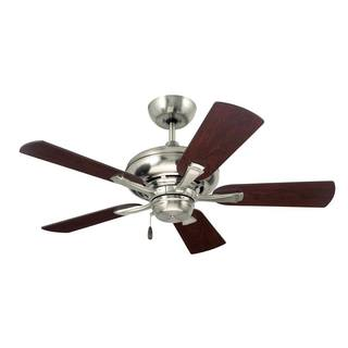 Emerson Monterey II 42-inch Brushed Steel Transitional Ceiling Fan with Reversible Blades