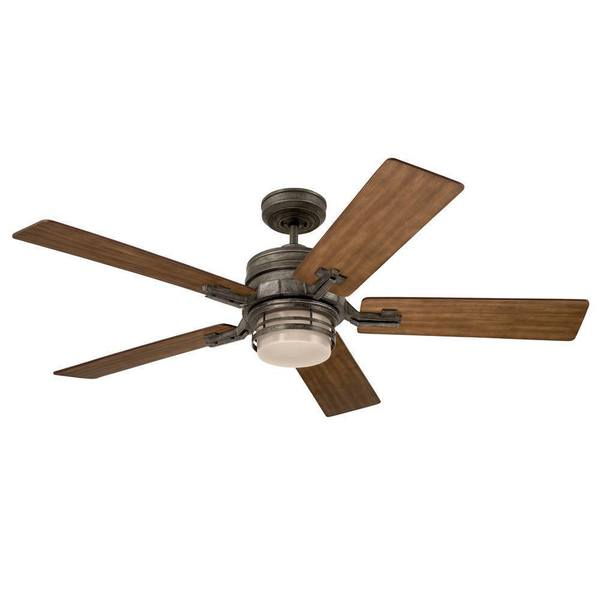 Emerson amhurst silver vintage steel 54 inch transitional reversible emerson amhurst silver vintage steel 54 inch transitional reversible blade ceiling fan mozeypictures Images