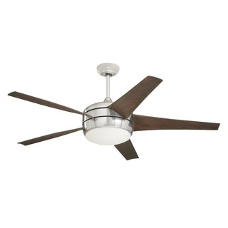 Emerson Midway Eco 54-inch Brushed Steel Modern Energy Star Ceiling Fan - Silver