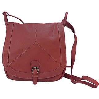 Paul & Taylor Crossbody Flap-Over Leather Saddle Bag