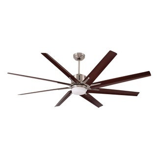 Emerson Aira Eco 72 Inch Brushed Steel Modern Ceiling Fan