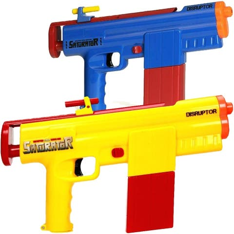 Saturator Disruptor STR60 Yellow and Blue Motorized Water Gun 2-pack with Sounds