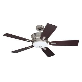 Emerson Highgrove 53-inch Brushed Steel Transitional Ceiling Fan