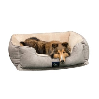 Serta Orthopedic Foam Cuddler 34 in. L x 24 in. W Pet Bed