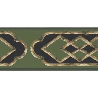 Green Bamboo Frame Wallpaper Border