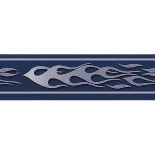 Blue Flame Wallpaper Border
