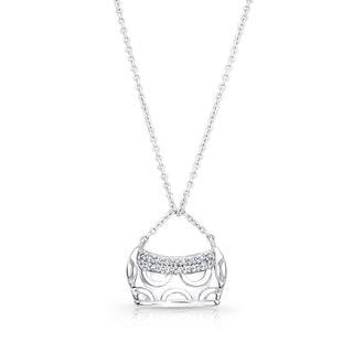 18k White Gold Diamond Accent Purse Pendant (H-I, SI1-SI2)