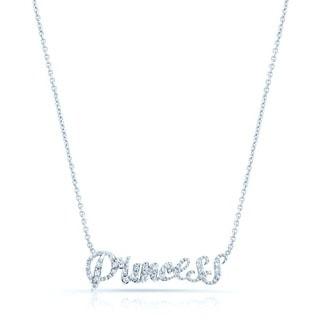 14k White Gold 1/10ct TDW Diamond 'Princess' Necklace (H-I, SI1-SI2)
