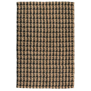 Kosas Home Hand Woven Lad Houndstooth Black Jute Rug (2' x 3')