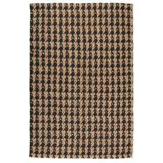 Kosas Home Handwoven Lad Houndstooth Jute Rug Black(2' x 3') - 2' x 3'