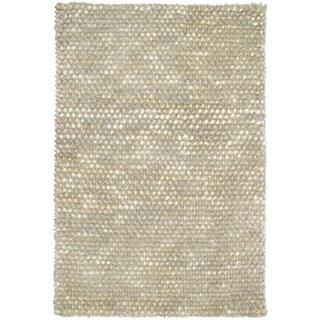 Kosas Home Handwoven Patricia Wool Shag Rug Ivory - 2' x 3'