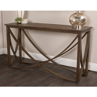 Kosas Home Hand-finished Maura Rustic Mahogany Console Table